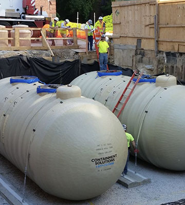 Installation of Fuel Oil Tanks at Mount Sinai Queens